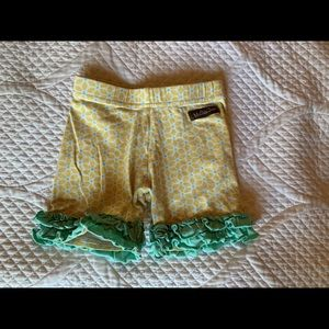 Matilda Jane yellow & aqua shorties
